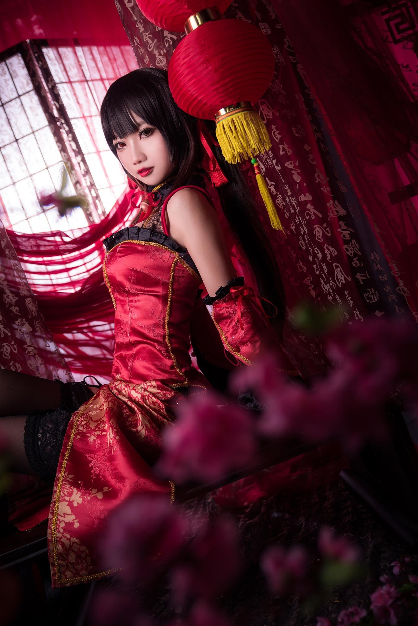 鬼畜瑶在不在w 时崎狂三新年旗袍 [22P-415MB] 网红少女-第2张