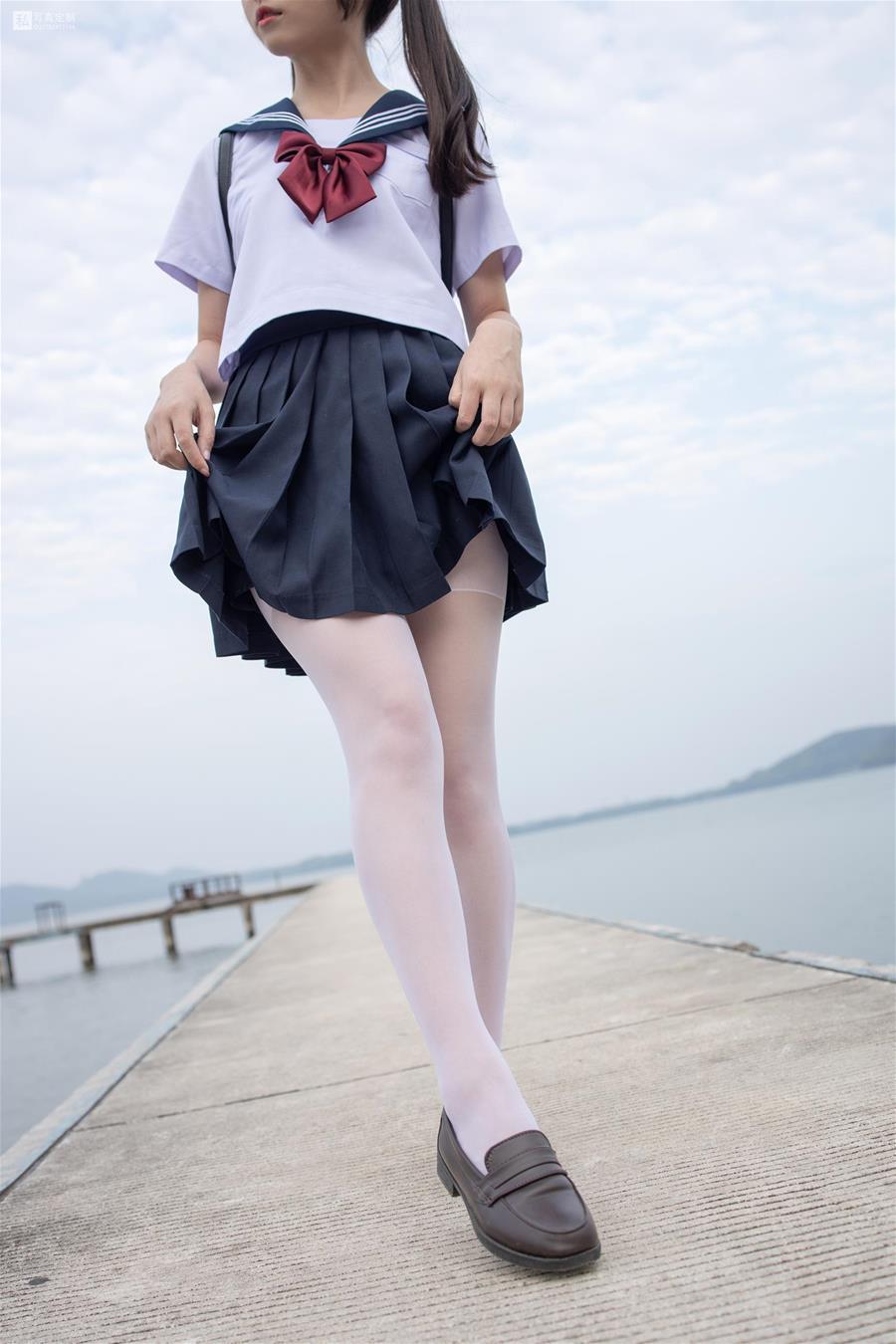 森萝财团 JKFUN-028 默陌 15D白丝 抑郁湖边与绝望天台 [58P1V-1.75GB] 森萝财团-第3张